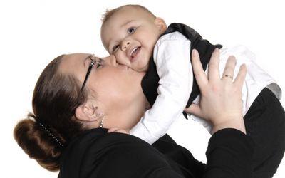 Lieke met baby Brendon-2